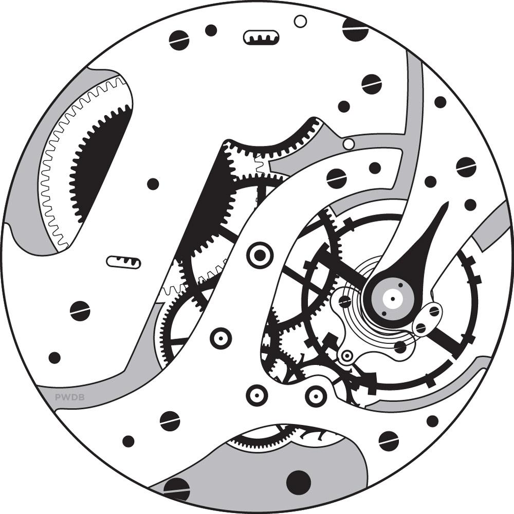 E. Howard Watch Co. (Keystone) Grade Series 12 Pocket Watch Movement