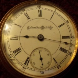 Columbus Watch Co. Grade North Star Pocket Watch