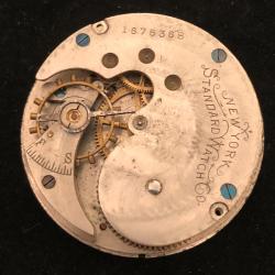 New York Standard Watch Co. Grade 44 Pocket Watch Image