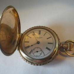 New York Standard Watch Co. Grade Columbia 44 Pocket Watch Image