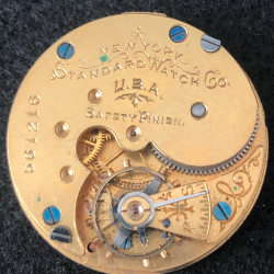 New York Standard Watch Co. Grade 46 Pocket Watch Image