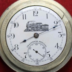 Seth Thomas Grade Trainmen's Special Pocket Watch