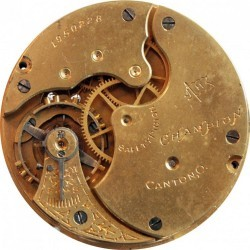 Hampden Grade Champion H (in flag) Pocket Watch