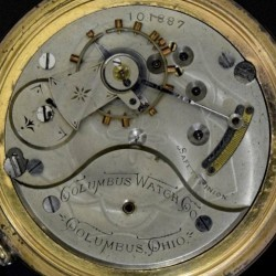 Columbus Watch Co. Pocket Watch Grade 92 #101892