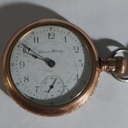 Hampden Grade No. 107 D Star (in flag) Pocket Watch