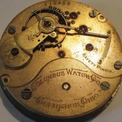 Columbus Watch Co. Pocket Watch Grade 32 #119459