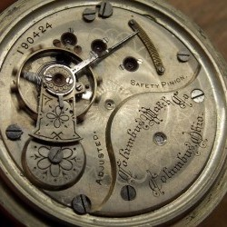 Columbus Watch Co. Pocket Watch Grade  #190116