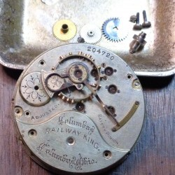 Columbus Watch Co. Pocket Watch Grade Railway King #204638