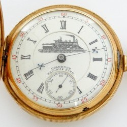 Columbus Watch Co. Grade Railway King Pocket Watch