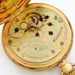 Columbus Watch Co. Pocket Watch Grade Railway King #224300