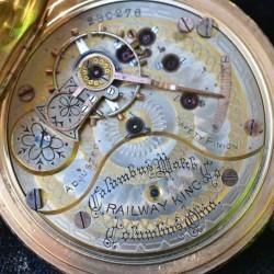 Columbus Watch Co. Pocket Watch Grade Railway King #230276