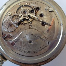 Columbus Watch Co. Pocket Watch Grade 63 #238945