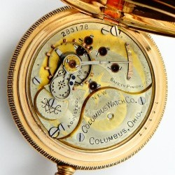 Columbus Watch Co. Pocket Watch Grade  #283286