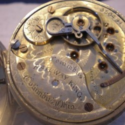 Columbus Watch Co. Pocket Watch Grade Railway King #350491