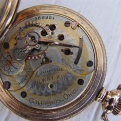 Columbus Watch Co. Pocket Watch Grade Railway King #369971