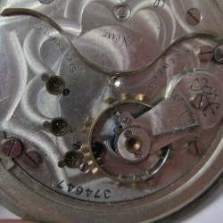 Columbus Watch Co. Pocket Watch Grade  #374647