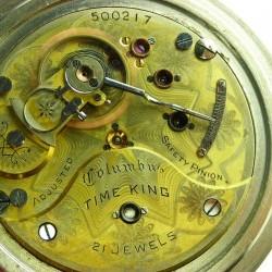 Columbus Watch Co. Pocket Watch Grade Time King #500217