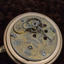 Columbus Watch Co. Pocket Watch Grade Time King #500298