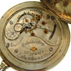 Columbus Watch Co. Pocket Watch Grade Columbus King #502889