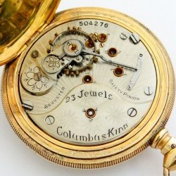 Columbus Watch Co. Pocket Watch Grade Columbus King #504276