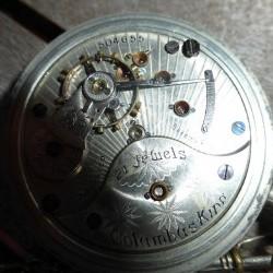 Columbus Watch Co. Pocket Watch Grade Columbus King #504655