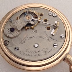 Columbus Watch Co. Pocket Watch Grade  #76539