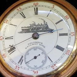 Columbus Watch Co. Grade Railway King Pocket Watch