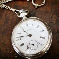 Waltham Grade Sterling Pocket Watch