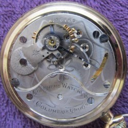 Columbus Watch Co. Pocket Watch Grade  #156162