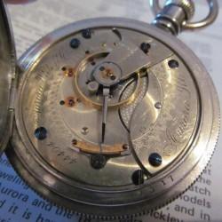 Aurora Watch Co. Grade 14 Pocket Watch