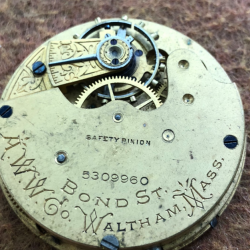 Waltham Grade Bond St. Pocket Watch