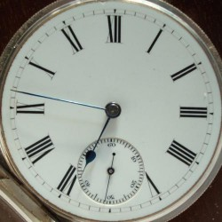 Waltham Grade Crescent Garden Pocket Watch