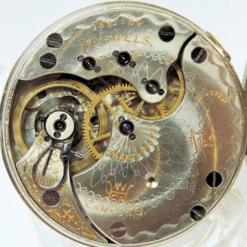 Hampden Grade No. 108 D (in flag) Pocket Watch Image