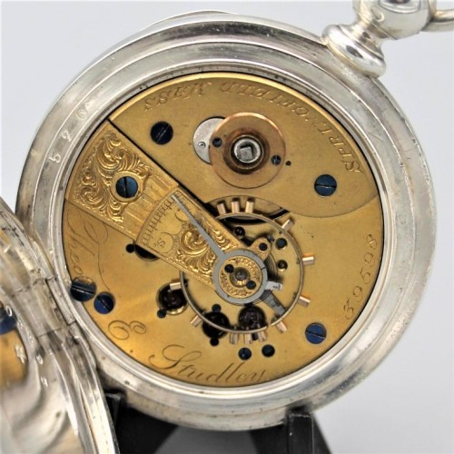 New York Springfield Watch Co. Grade Theo. E. Studley Pocket Watch Image
