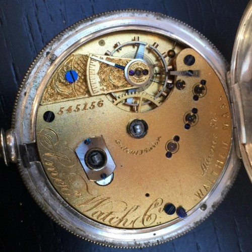 Waltham Grade Crescent Garden Pocket Watch Image
