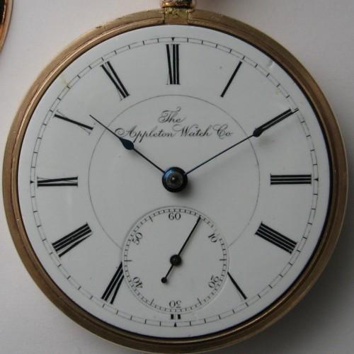 Appleton Watch Co. Grade  Pocket Watch Image