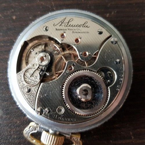 Illinois Grade A. Lincoln Pocket Watch