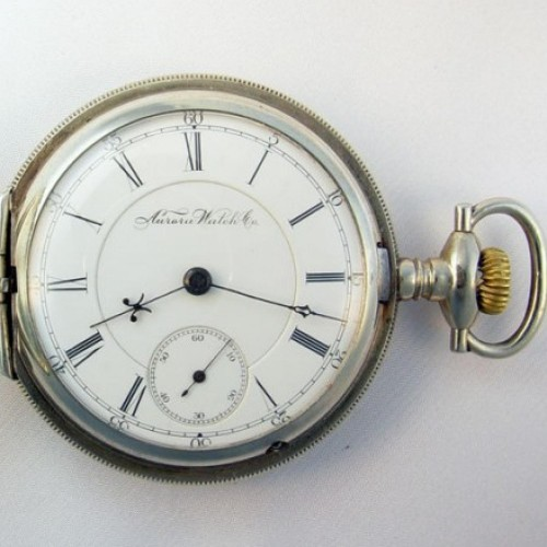 Aurora Watch Co. Grade 8 Pocket Watch Image