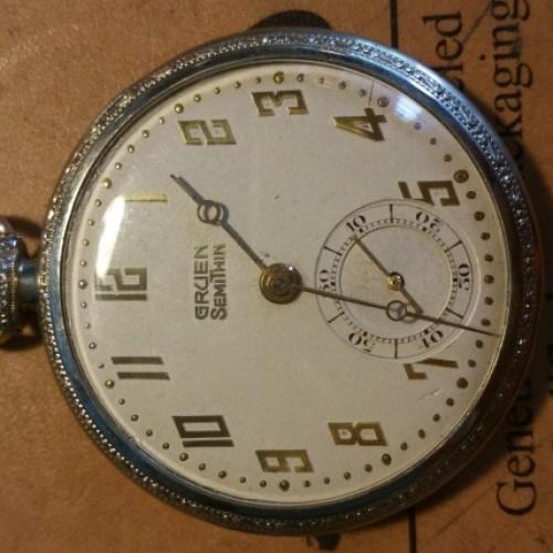 Gruen Watch Co. Grade  Pocket Watch Image
