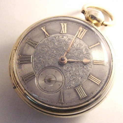 Robert Roskell Grade 30 tooth 15 second rack lever Pocket Watch Image