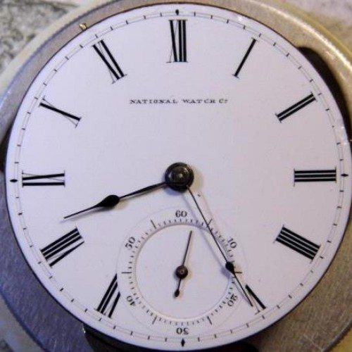 National Watch Co. Grade Farwell Pocket Watch Image