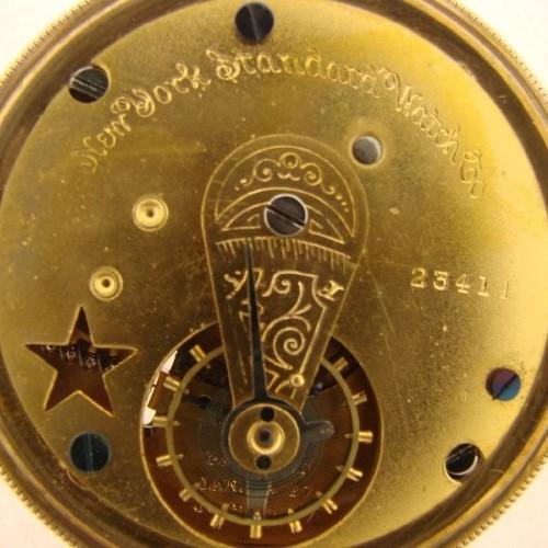 New York Standard Watch Co. Grade Worm Pocket Watch Image