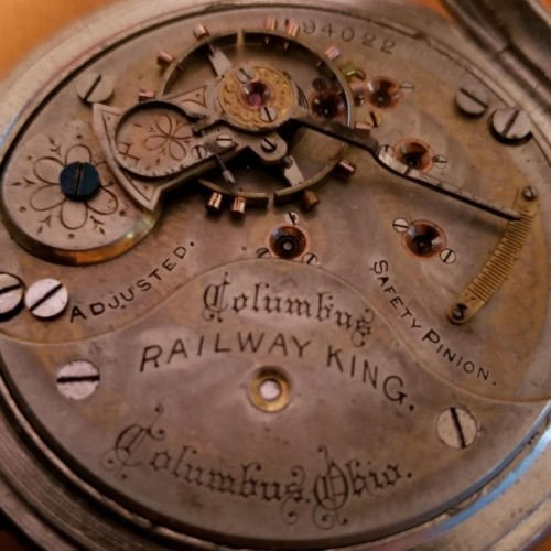 Columbus Watch Co. Grade Railway King Pocket Watch Image