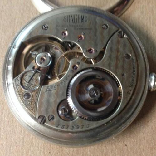 Illinois Grade Sangamo Pocket Watch Image