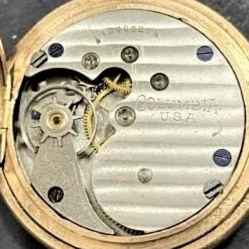 New York Standard Watch Co. Grade Columbia 44 Pocket Watch Image