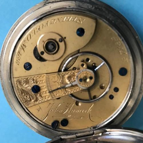 New York Springfield Watch Co. Grade John Hancock Pocket Watch Image