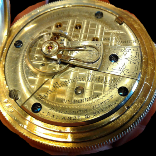 Image of Peoria Watch Co. Non Magnetic Watch Co of America #40094 Movement