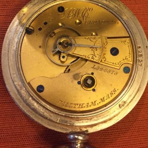 American Watch Co. Grade Sterling Pocket Watch Image