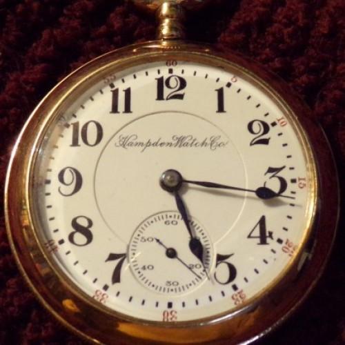 Hampden Grade North American Railway Pocket Watch Image