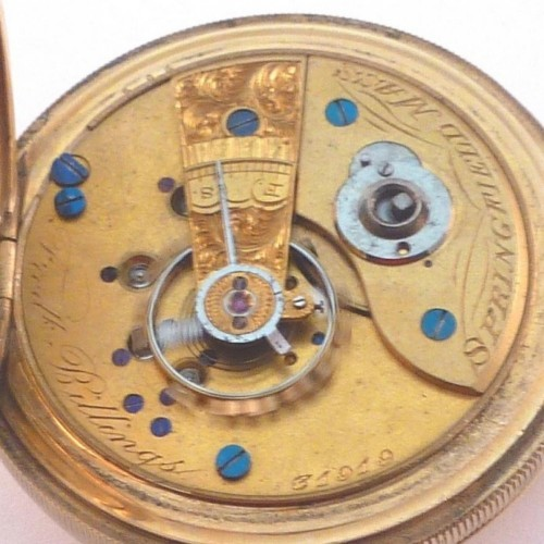 Image of New York Springfield Watch Co. Fredk Billings #31919 Movement